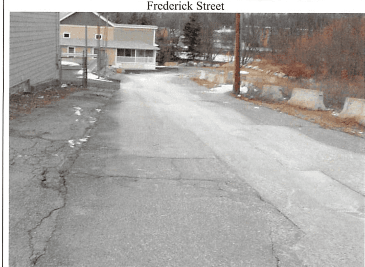 Frederick Street Project Before 1