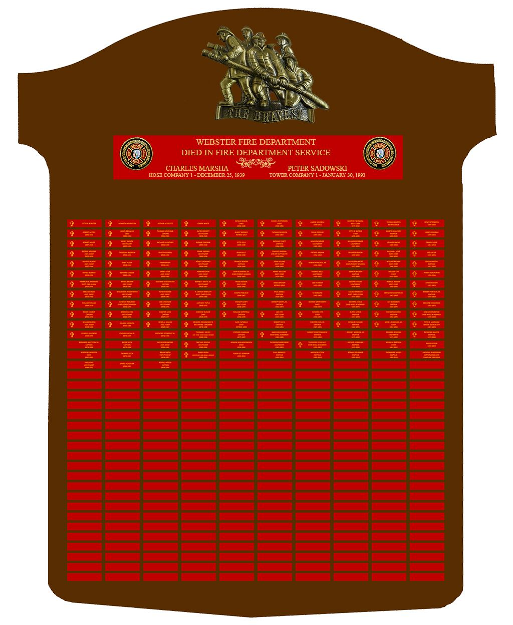 Fire Rescue Memorial Board