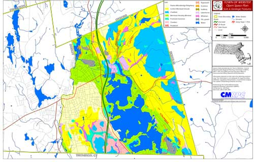 2008 Open Space Plan Map - Soils & Geologic Features