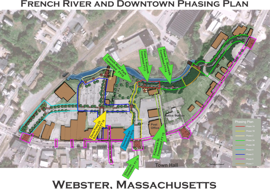 French River and Downtown Phasing Plan Map