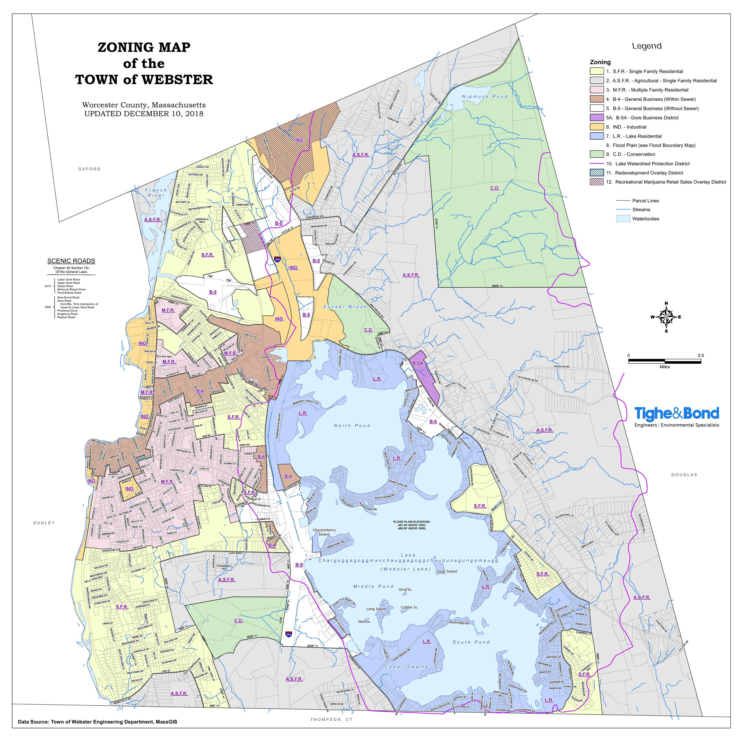 Town of Webster Zoning Map, December 10, 2018