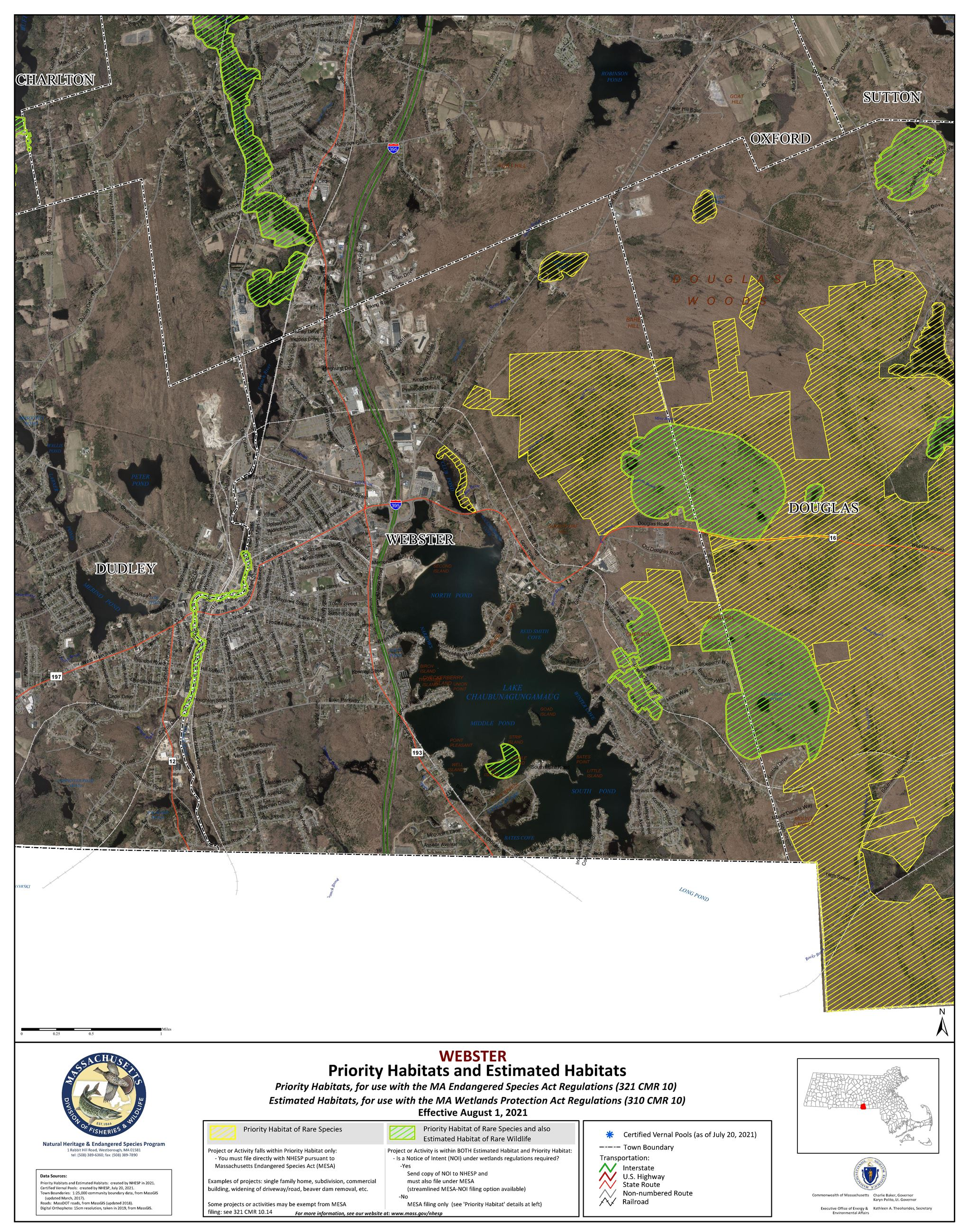 Natural Heritage Endangered Species Program Map