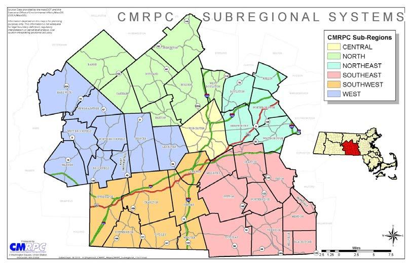 CMRPC Sub Region Map